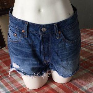 Denim cutoff shorts.   Size 27